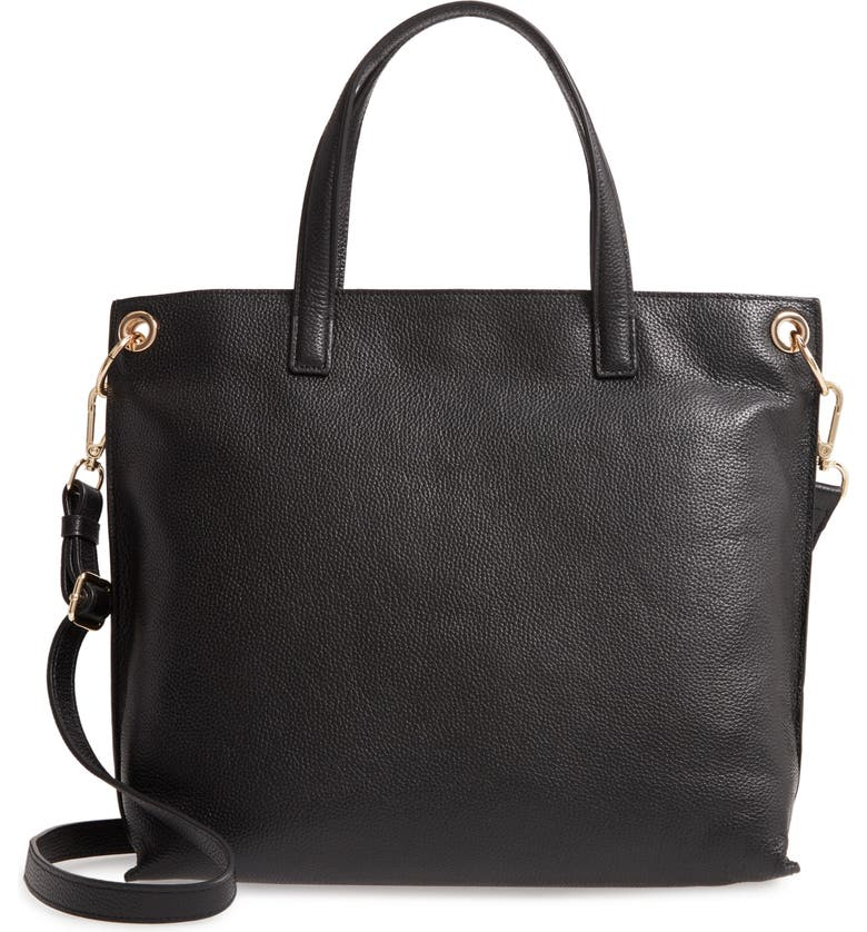 NORDSTROM Nicole Leather Tote, Main, color, 001