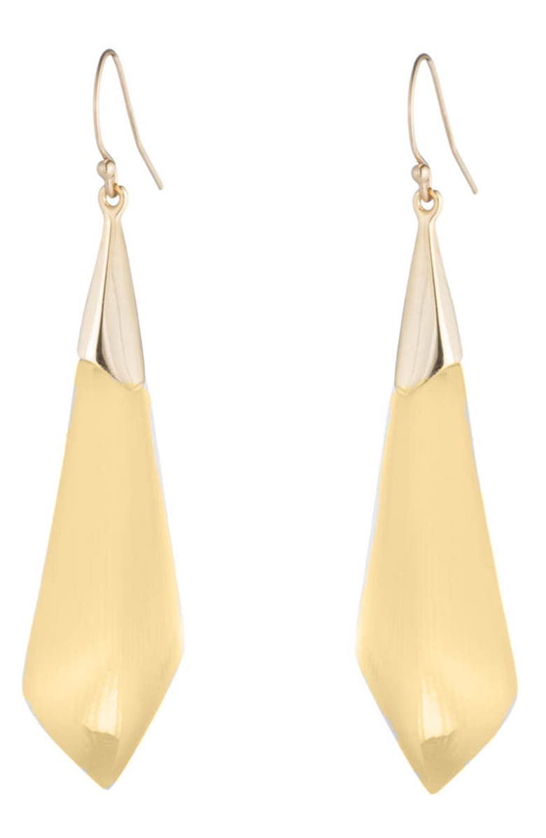 ALEXIS BITTAR Essentials Faceted Drop Earrings, Main, color, GOLD