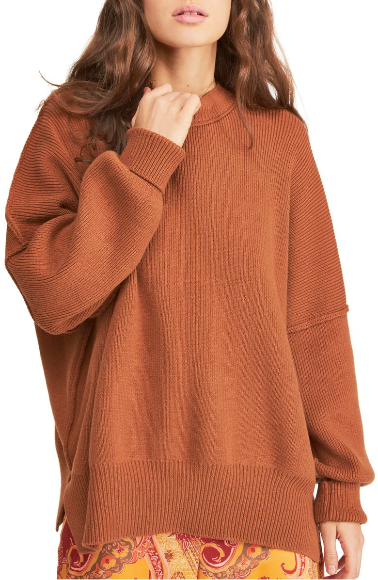 FREE PEOPLE Easy Street Tunic, Main, color, TUSCAN EARTH