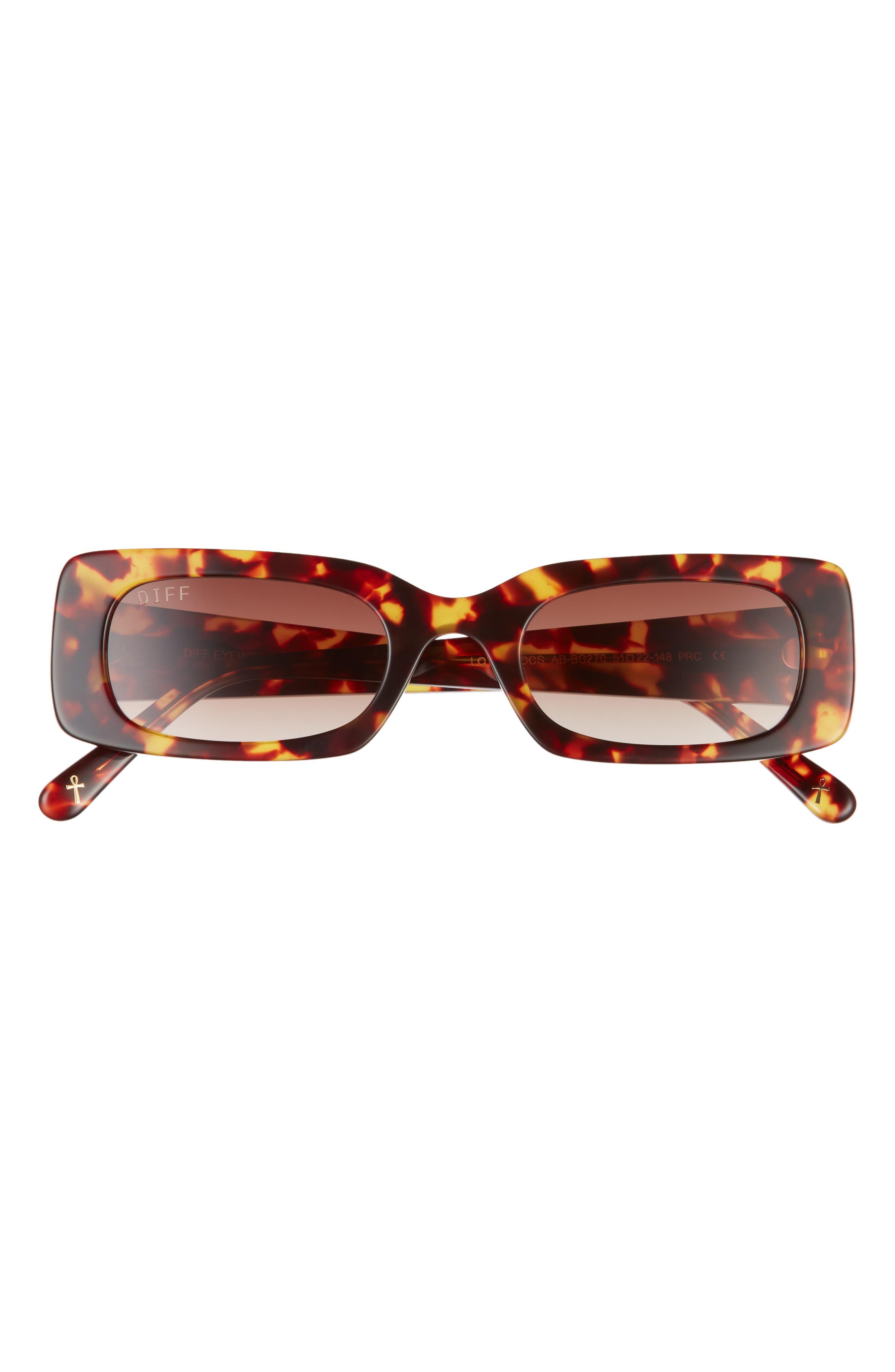 X Lauren London Lotus Locs 54mm Rectangular Sunglasses
