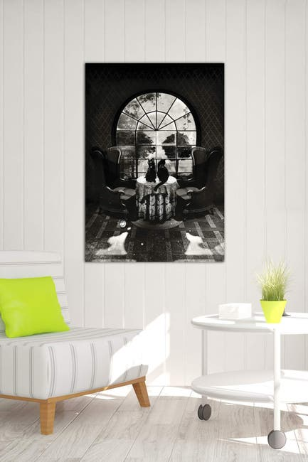 Image of iCanvas Room Skull B/W by Ali Gulec