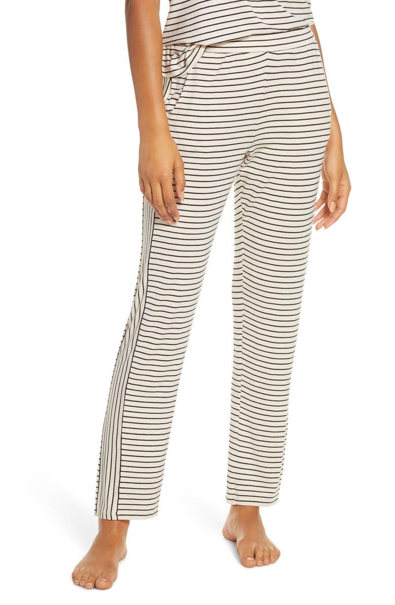 EBERJEY Vega Not So Basic Pajama Pants, Main, color, SHELL/ BLACK