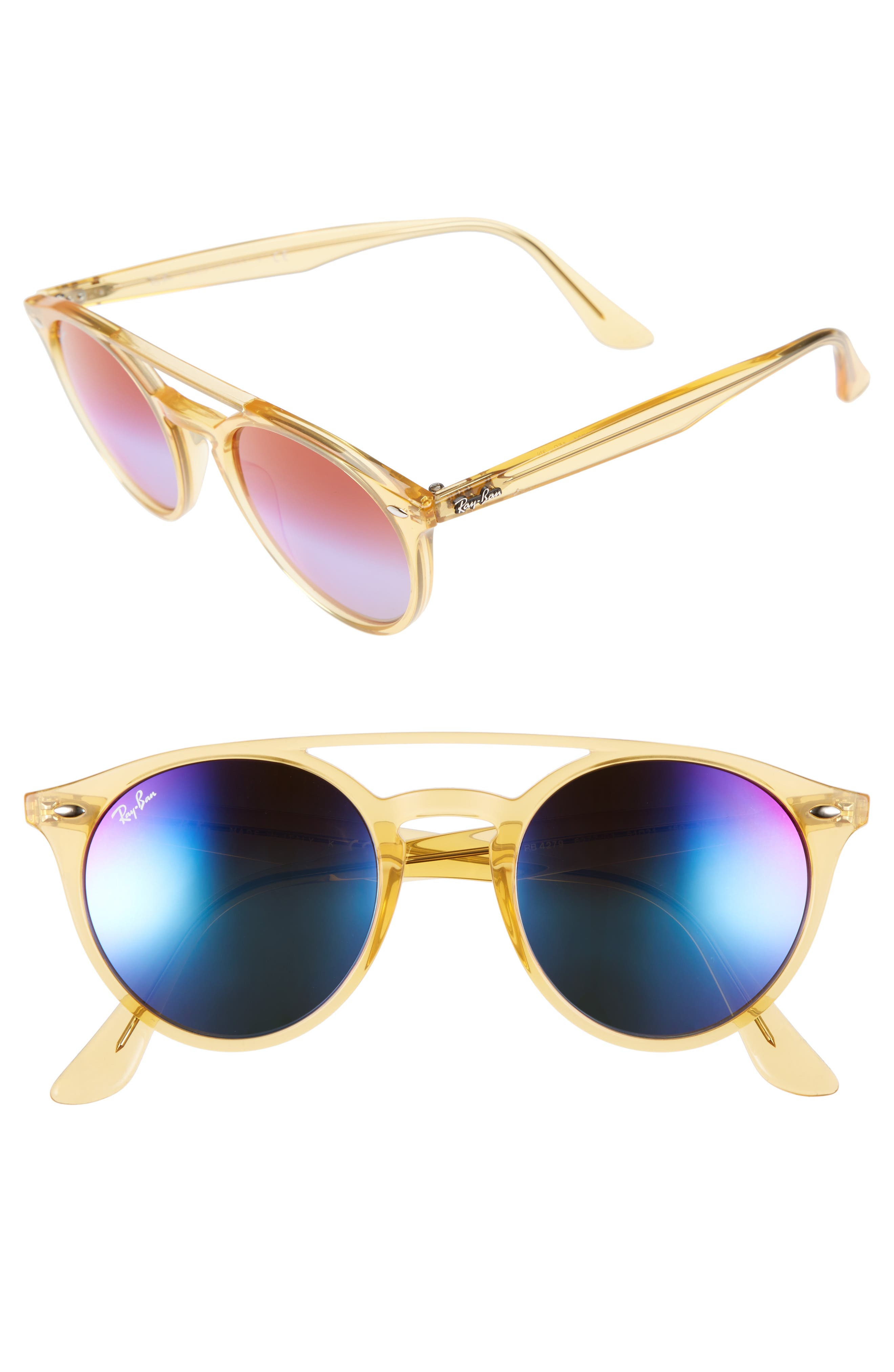 Image of Ray-Ban 51mm Mirrored Rainbow Sunglasses