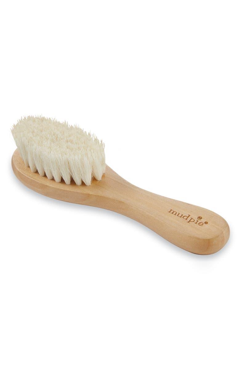 MUD PIE Wooden Baby Brush, Main, color, TAN
