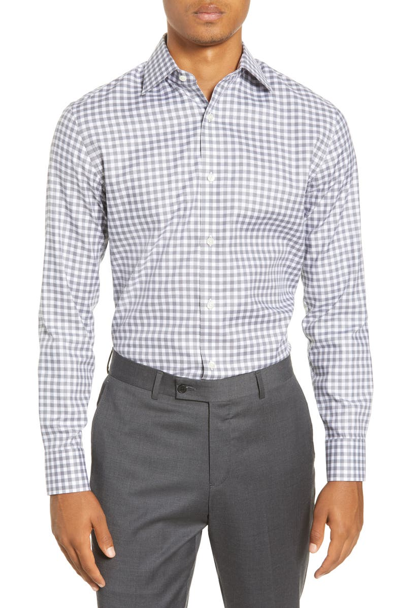 BONOBOS Slim Fit Check Dress Shirt, Main, color, 020