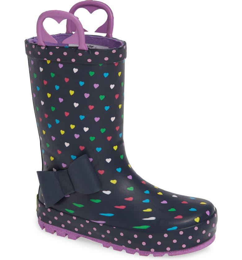 WESTERN CHIEF Heart Parade Waterproof Rain Boot, Main, color, 421