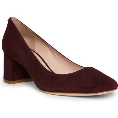 Kate Spade New York Kylah Block Heel Pump, Burgundy