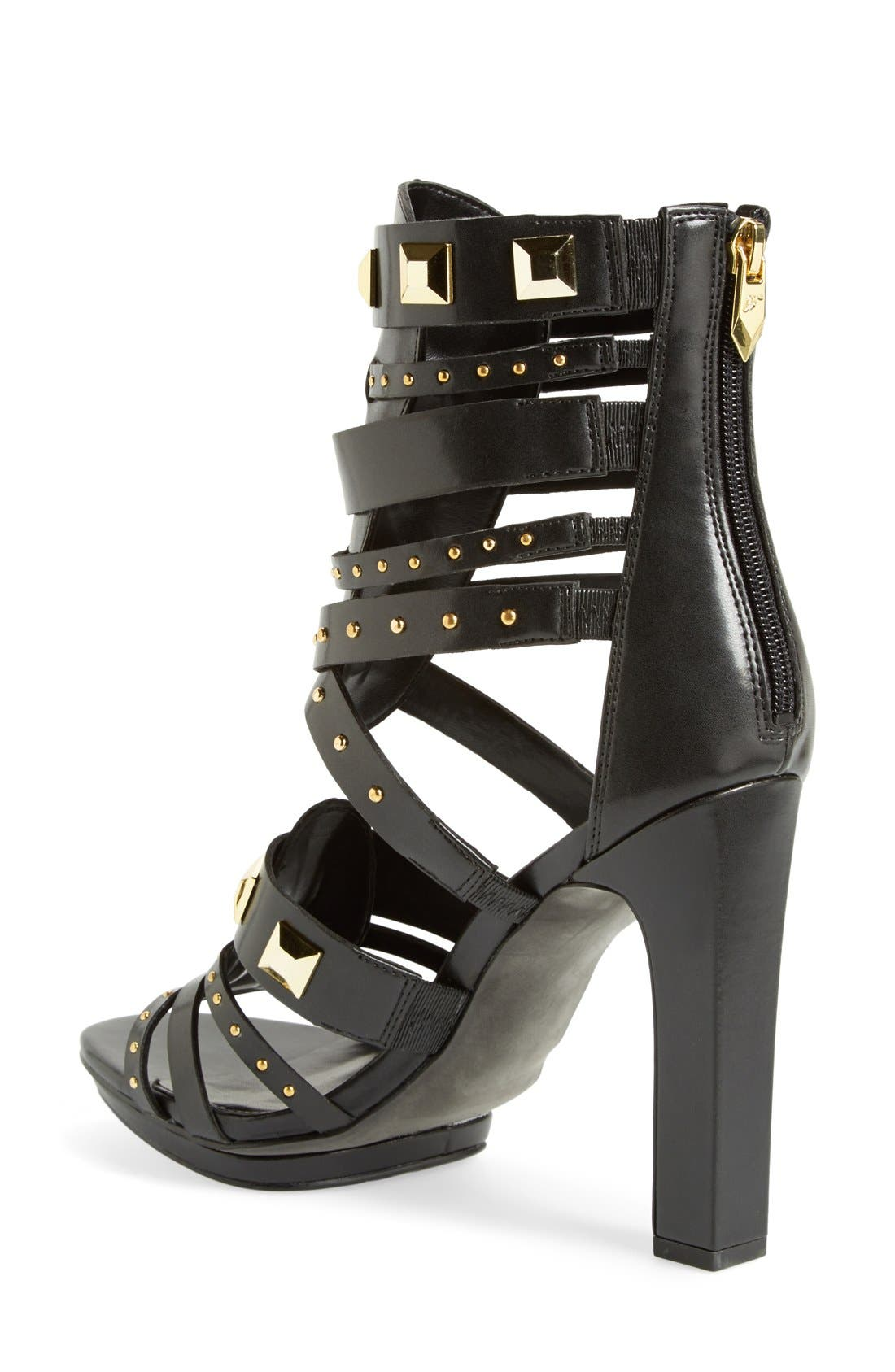 ,                             'Bonnie' Studded Strappy Sandal,                             Alternate thumbnail 2, color,                             001