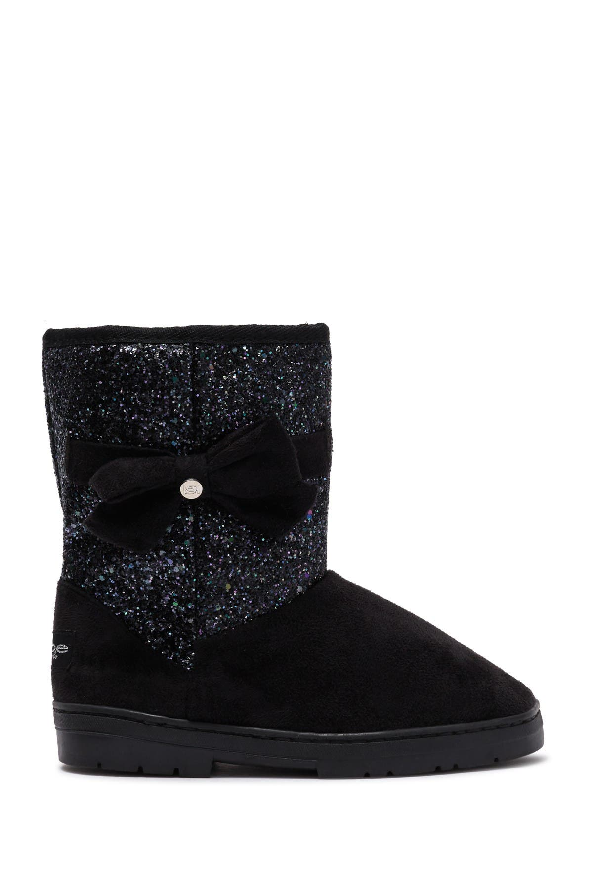 Bebe Microsuede Glitter Faux Fur Winter Boot