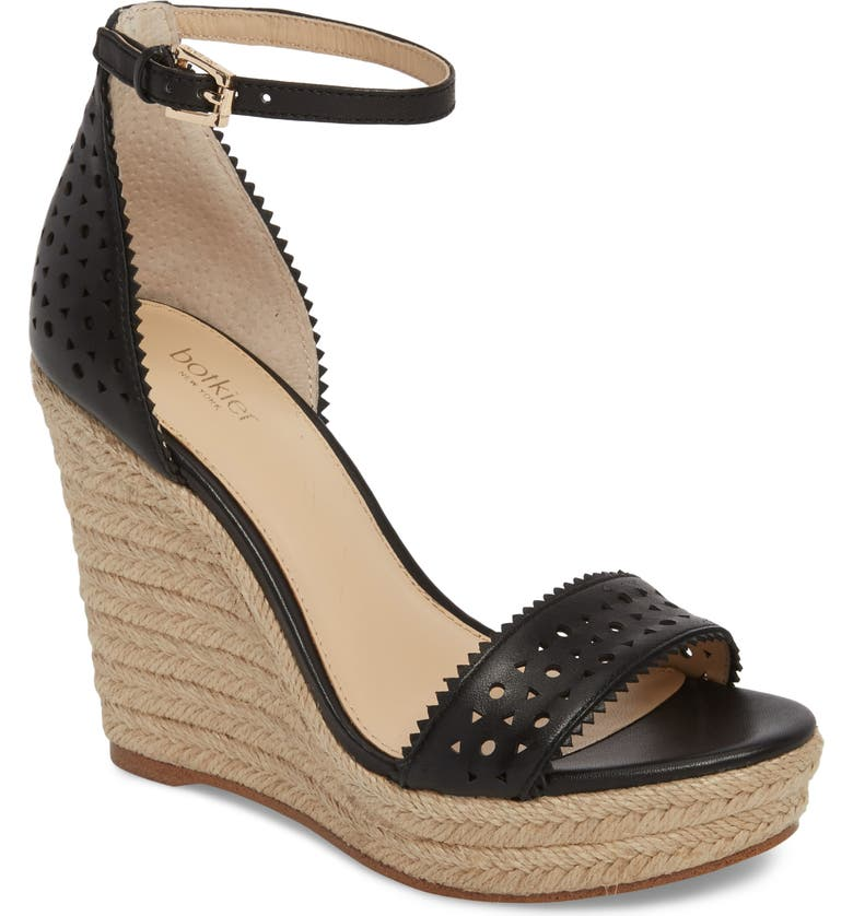 279300aece Jamie Espadrille Wedge Sandal, Main, color, BLACK LEATHER