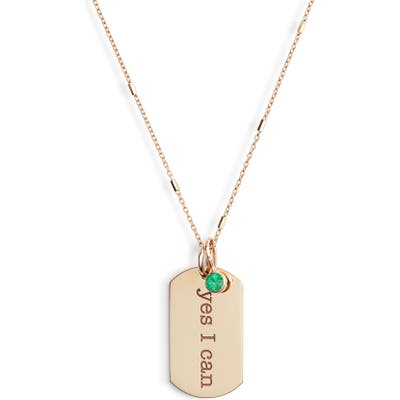 Zoe Chicco Yes I Can Tag Pendant Necklace