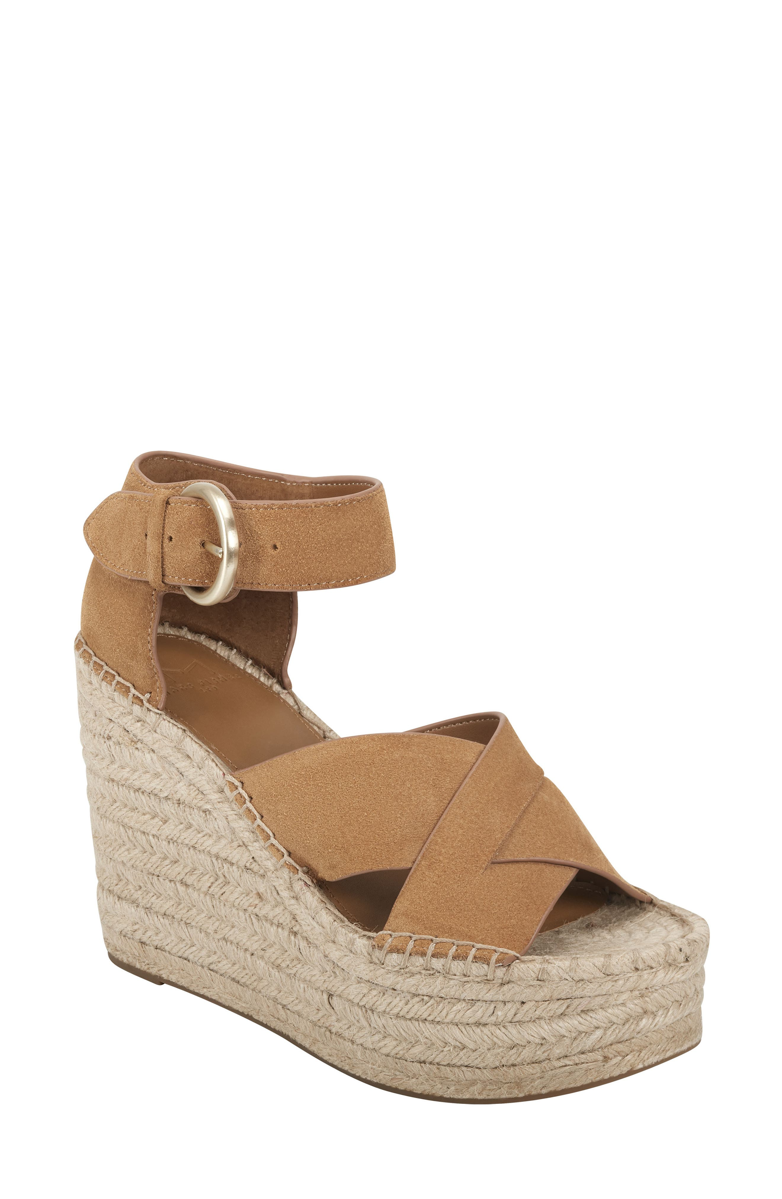 Image of Marc Fisher LTD Amari Ankle Strap Espadrille Wedge