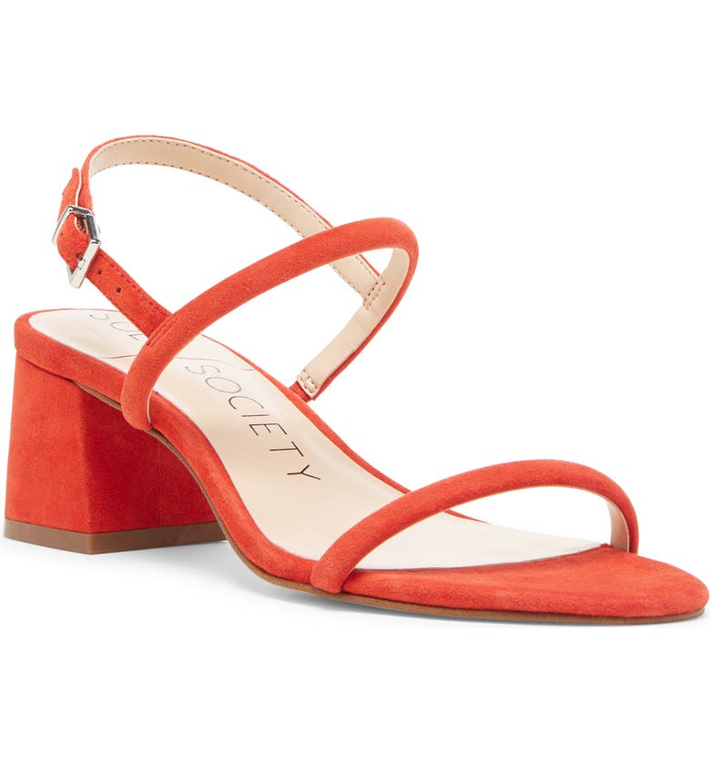 SOLE SOCIETY Saunye Strappy Sandal, Main, color, TANGO SUEDE