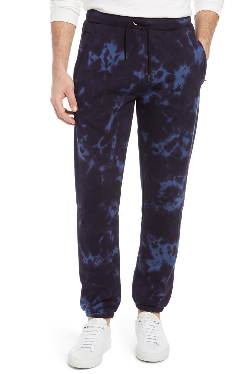 FRAME Tie Dye Men's Sweatpants, Main, color, NAVY MULTI