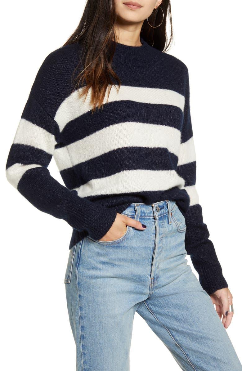 RAILS Ellise Stripe Cashmere Blend Sweater, Main, color, 005