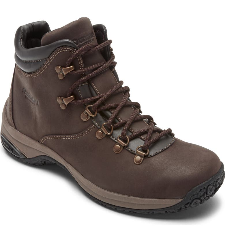 DUNHAM Ludlow Waterproof Hiking Boot, Main, color, BROWN