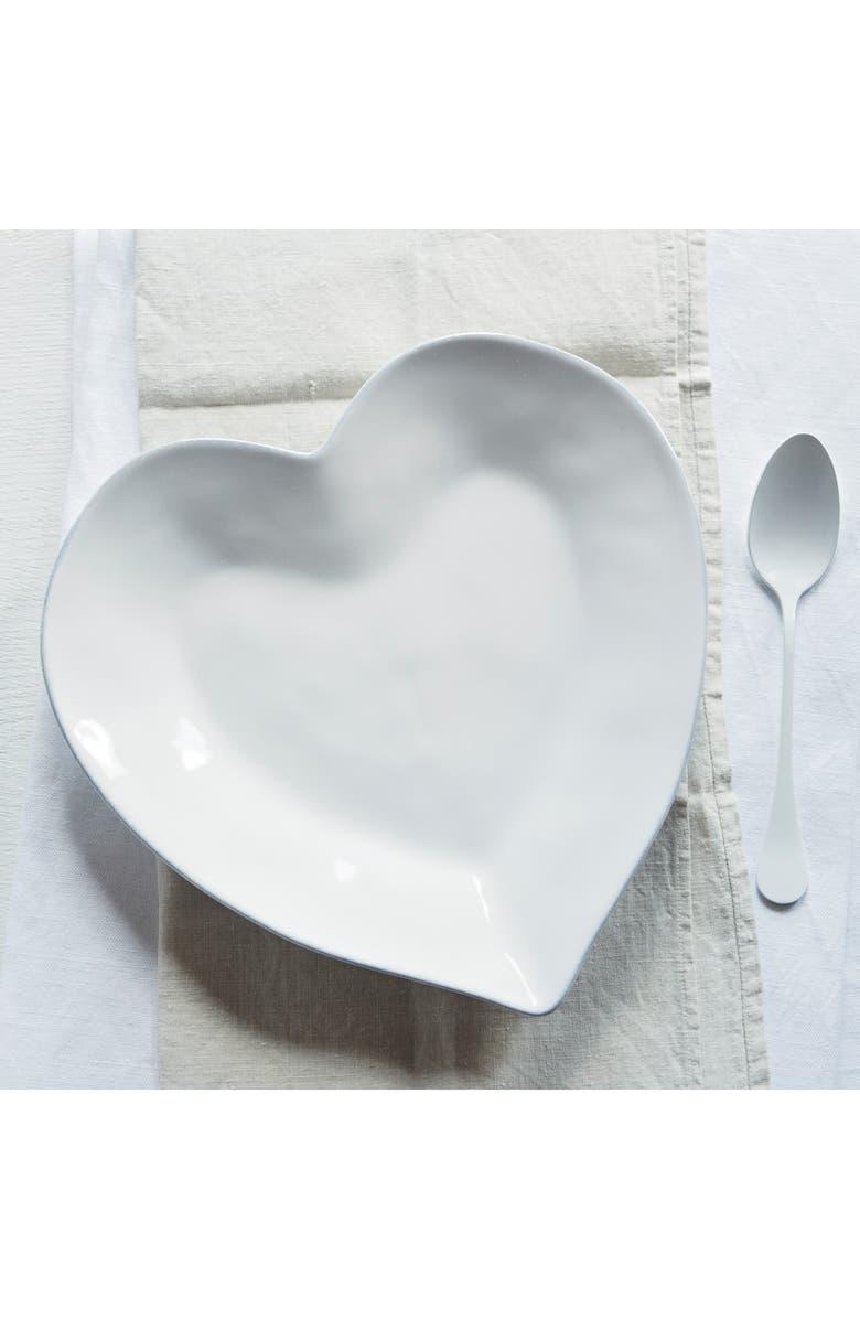 THE WHITE COMPANY Porto Heart Plate, Main, color, WHITE