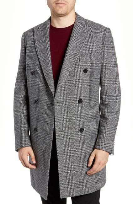 Image of RODD AND GUNN Roberton Island Double Breasted Wool Blend Coat