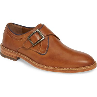 J & m 1850 Chambliss Monk Strap Shoe, Brown