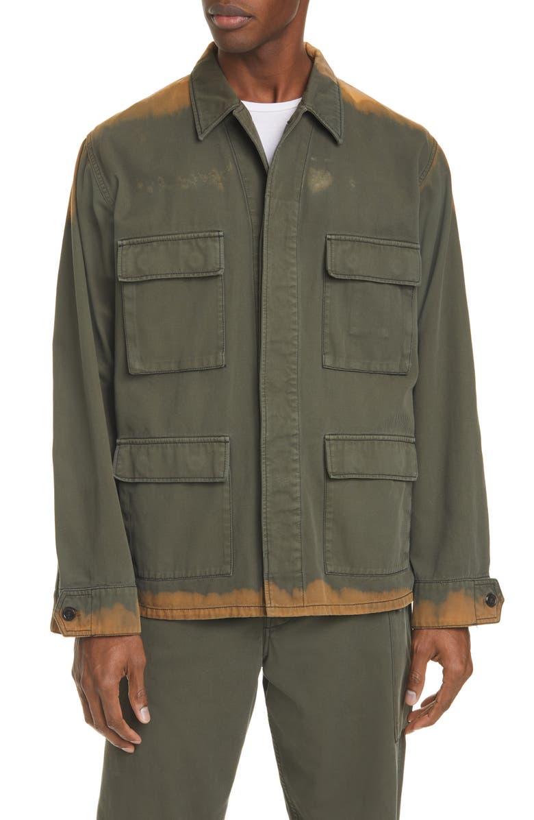 MARNI Bleached Bull Denim Jacket, Main, color, 306