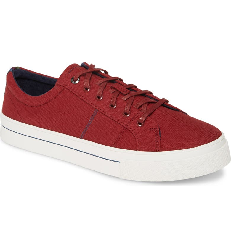 TED BAKER LONDON Eshron Sneaker, Main, color, RED TEXTILE