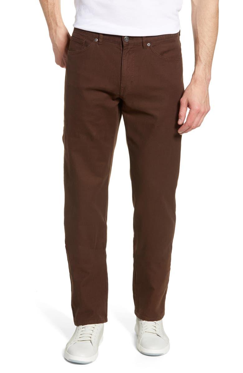 PETER MILLAR Crown Vintage Canvas Pants, Main, color, CHOCOLATE