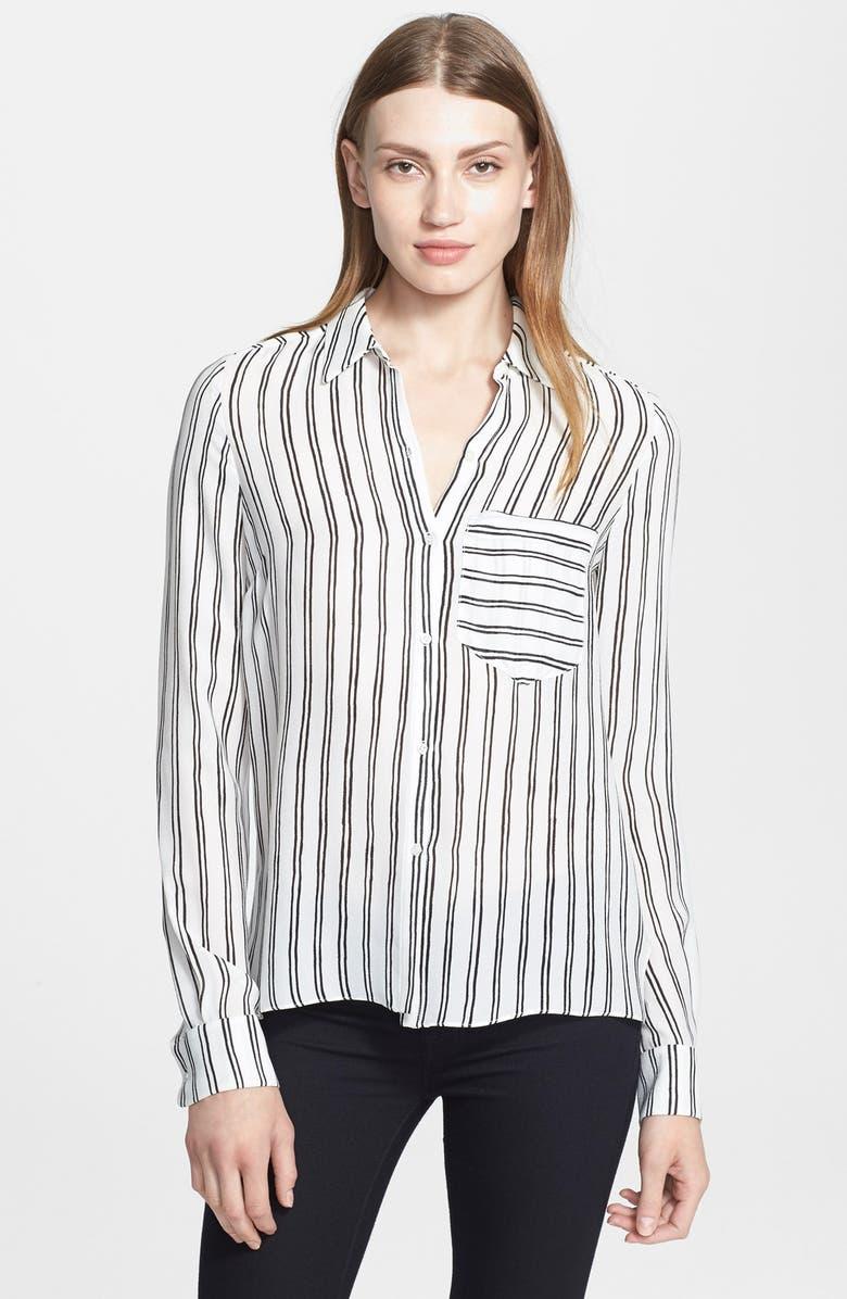 A.L.C. 'Troy' Stripe Silk Blouse, Main, color, 193