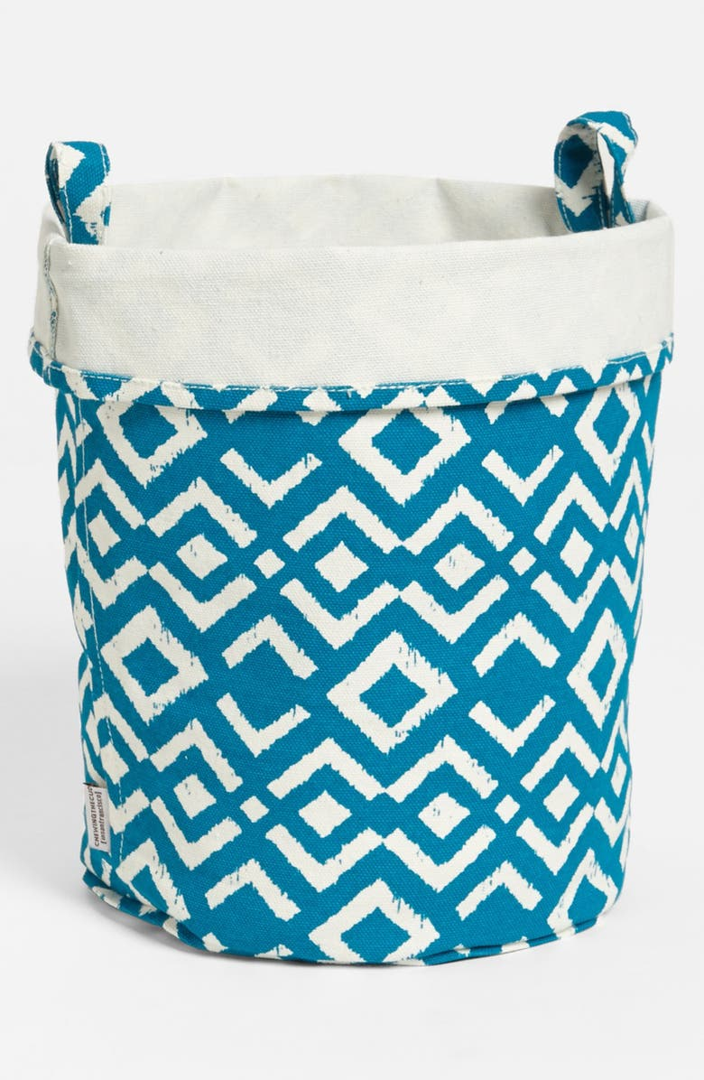 CHEWING THE CUD 'Ikat - Large' Recycled Canvas Bucket, Main, color, 400