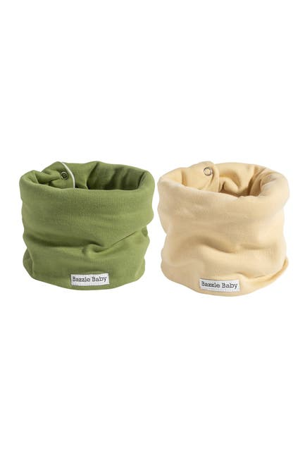 Image of Bazzle Baby Fleece Lined Scarf Bib - Pack of 2
