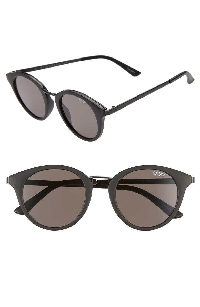 b9f1a9447ff5 Gotta Run 48mm Sunglasses, Main, color, MATTE BLACK/ SMOKE