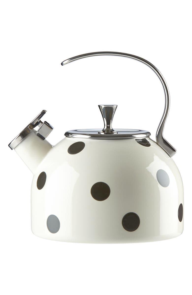 KATE SPADE NEW YORK 'all in good taste' tea kettle, Main, color, 100