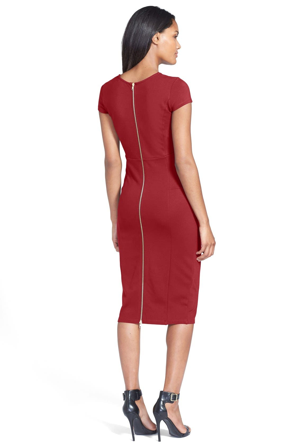 ,                             Ward Seamed Pencil Dress,                             Alternate thumbnail 58, color,                             605
