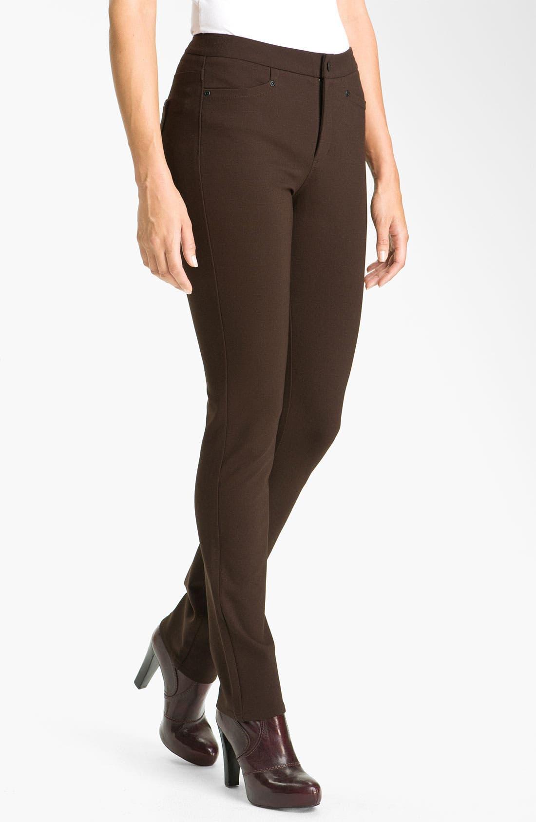 ,                             'Samantha' Stretch Ponte Knit Pants,                             Main thumbnail 8, color,                             202