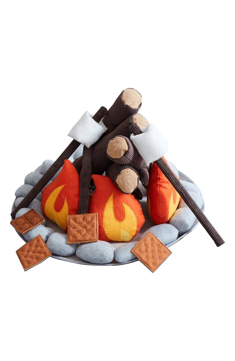 ASWEETS Campout Campfire & S'mores Set, Main, color, BROWN
