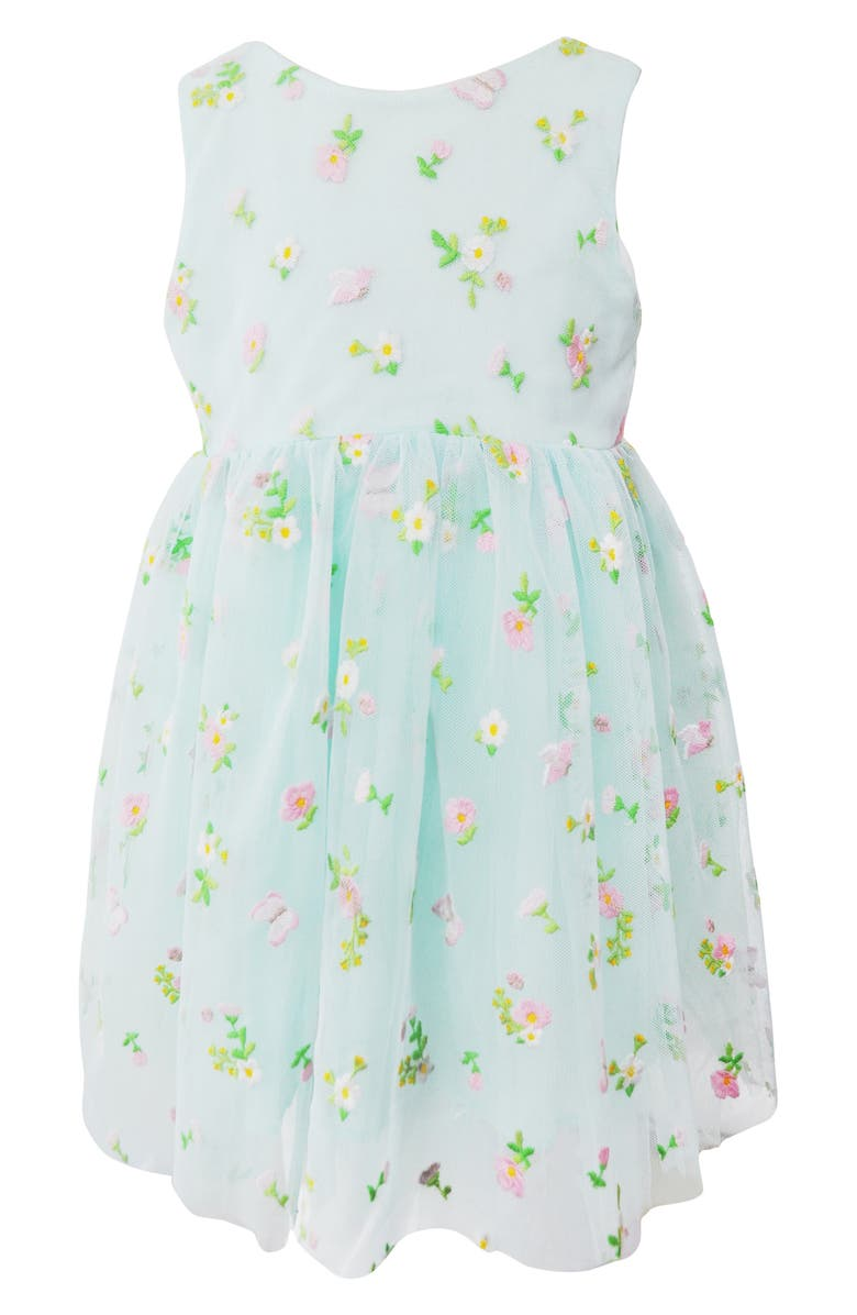 POPATU Embroidered Floral Tulle Dress, Main, color, 325