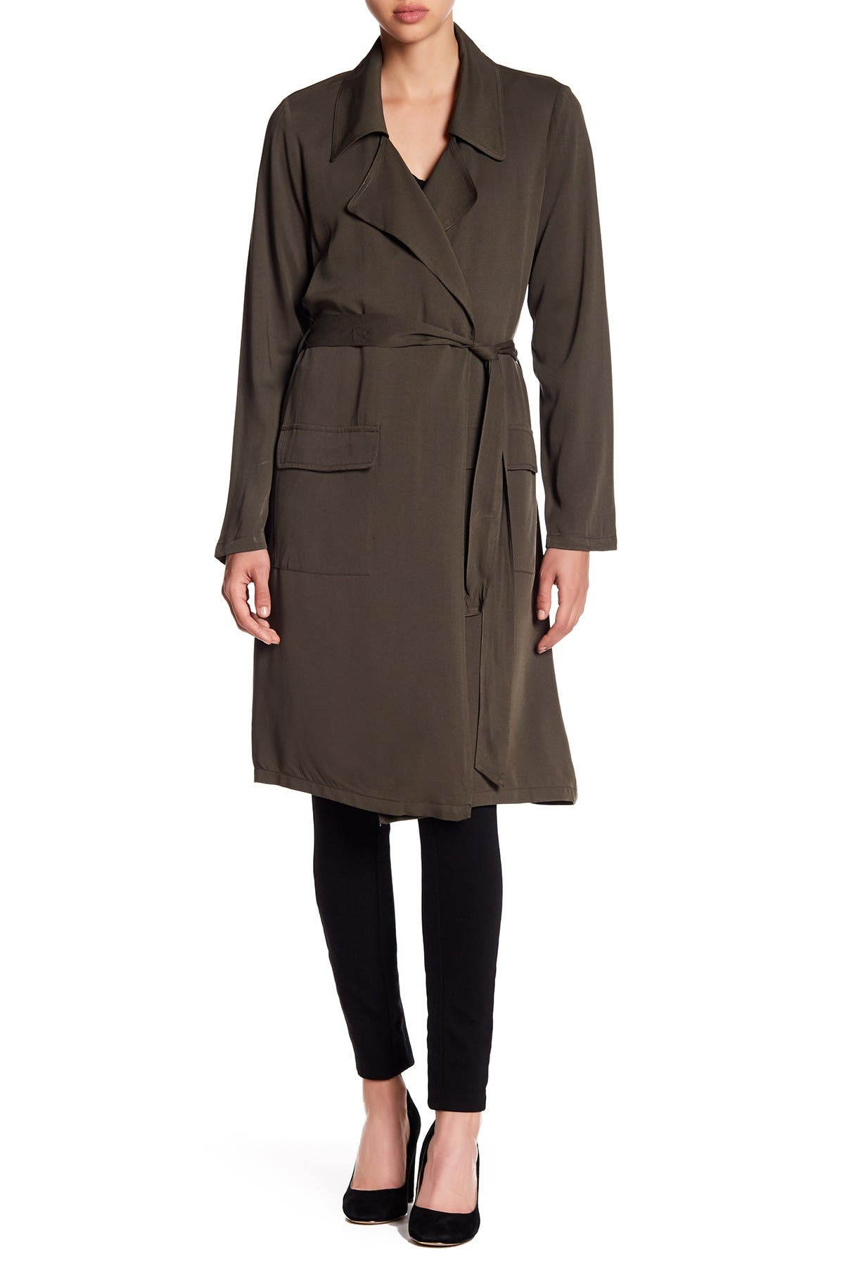 Image of DR2 by Daniel Rainn Draped Trench Coat Duster