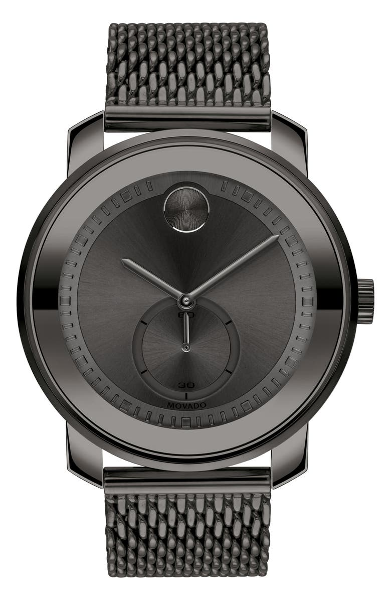 MOVADO Bold Mesh Bracelet Watch, 45mm, Main, color, 020