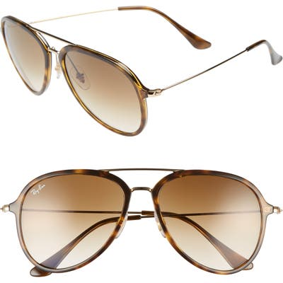 Ray-Ban 57Mm Pilot Sunglasses - Light Havana