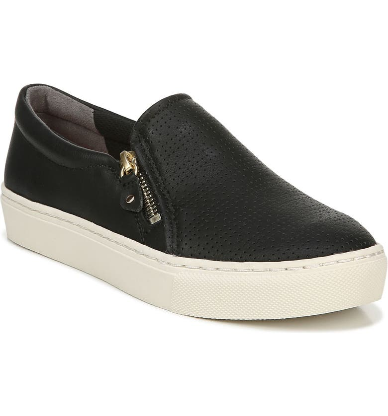 DR. SCHOLL'S No Chill Sneaker, Main, color, BLACK FAUX LEATHER