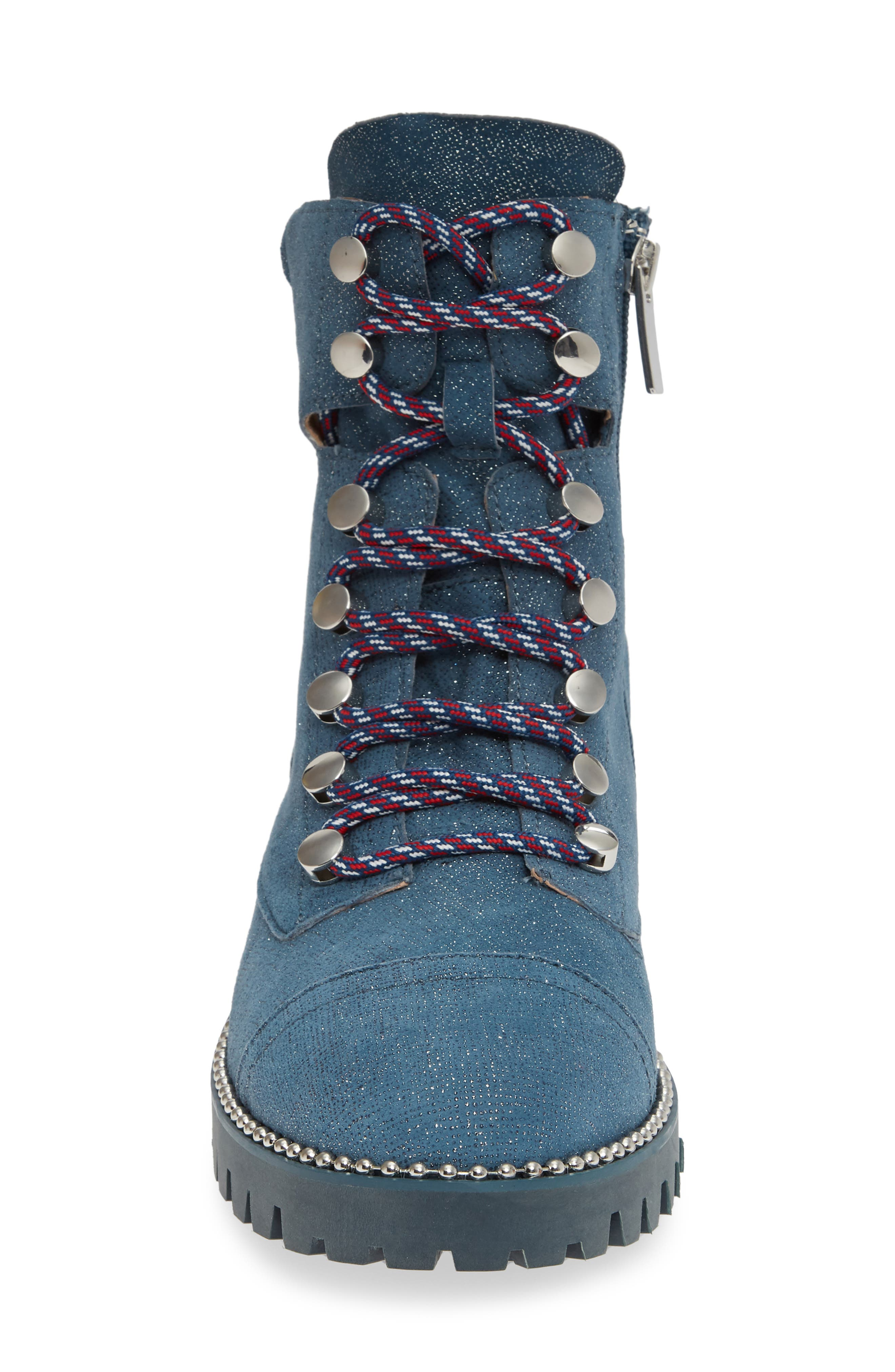 ,                             Trekker Boot,                             Alternate thumbnail 4, color,                             GLITTER DENIM