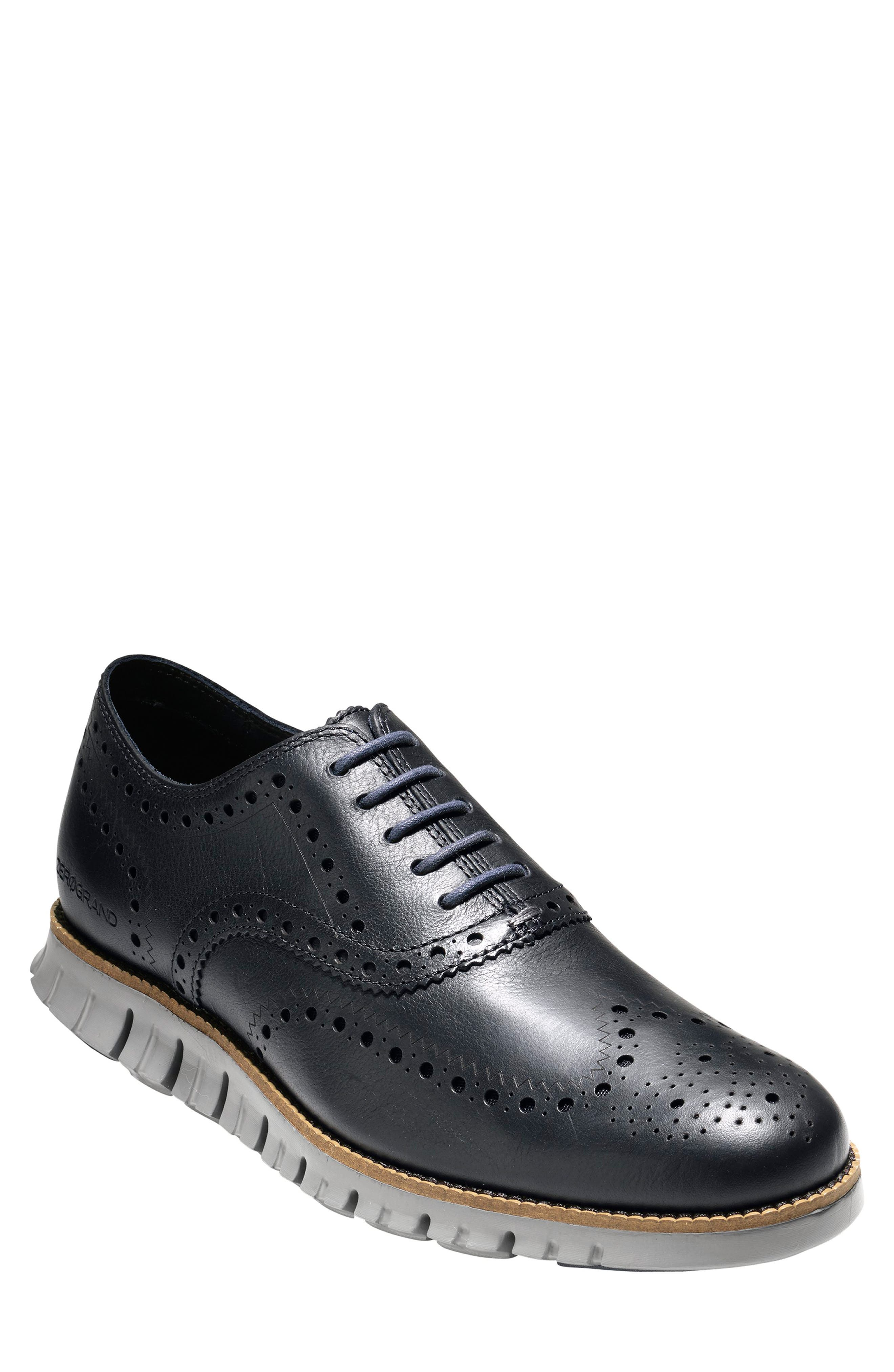 'ZeroGrand' Wingtip Oxford, Main, color, NAVY INK LEATHER
