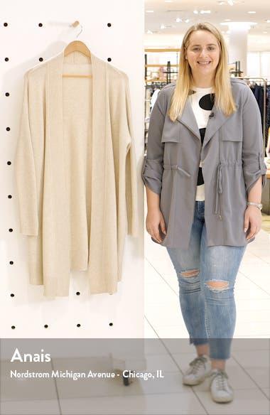 Wool & Cashmere Drape Front Long Cardigan, sales video thumbnail