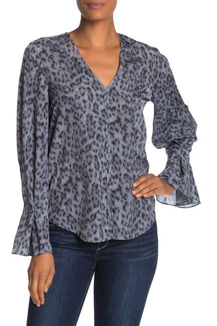 Image of Joie Latacia Animal Print Bell Sleeve Blouse