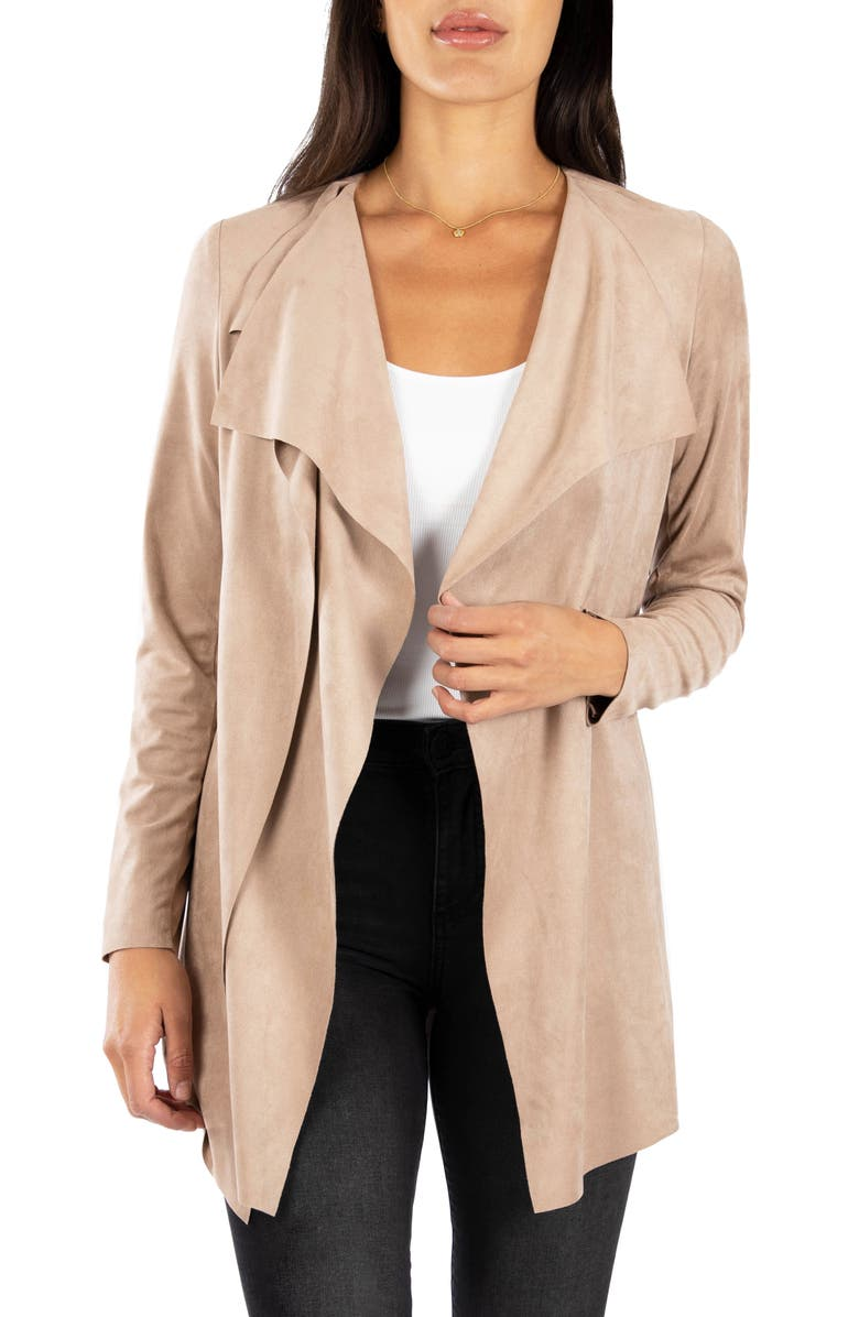 KUT FROM THE KLOTH Dianne Faux Suede Jacket, Main, color, 201