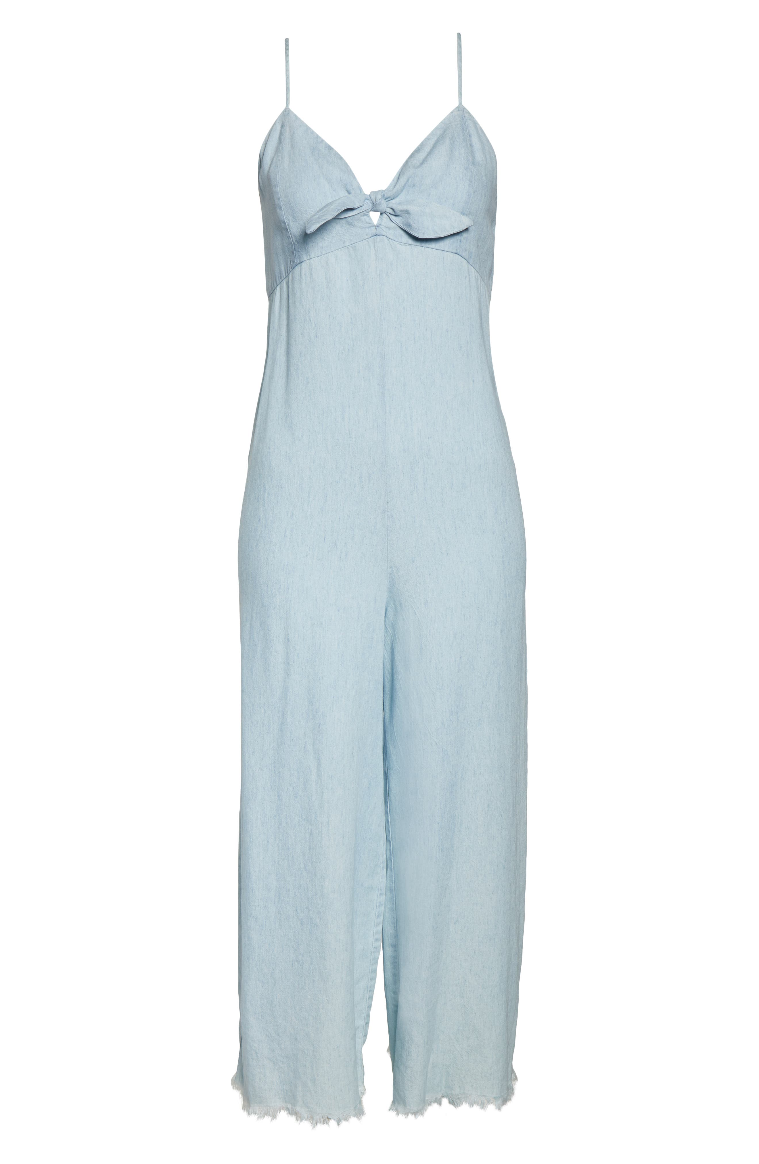 ,                             Paolo Chambray Wide Leg Jumpsuit,                             Alternate thumbnail 5, color,                             SHORE CHAMBRAY