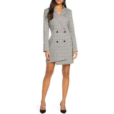 Adelyn Rae Toni Long Sleeve Suit Dress, Grey