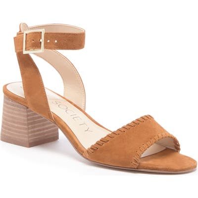 Sole Society Sylie Ankle Strap Sandal- Orange