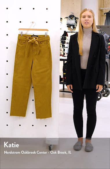 Belted Crop Straight Leg Jeans, sales video thumbnail