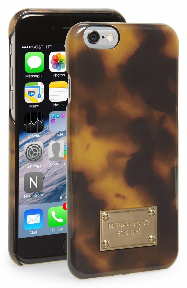 MICHAEL MICHAEL KORS Tortoiseshell iPhone 6 & 6s Case, Main, color, 210