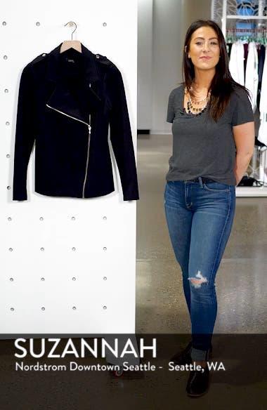 Long Knit Moto Jacket, sales video thumbnail